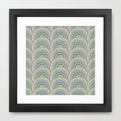 Spiralling Repetition Framed Art Print by Charlotte Pettley Design - $34.00