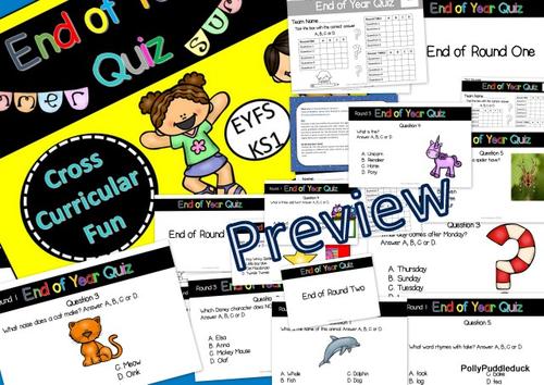 Quiz for End of Year Quiz fun! (EYFS/KS1) Fun quiz
