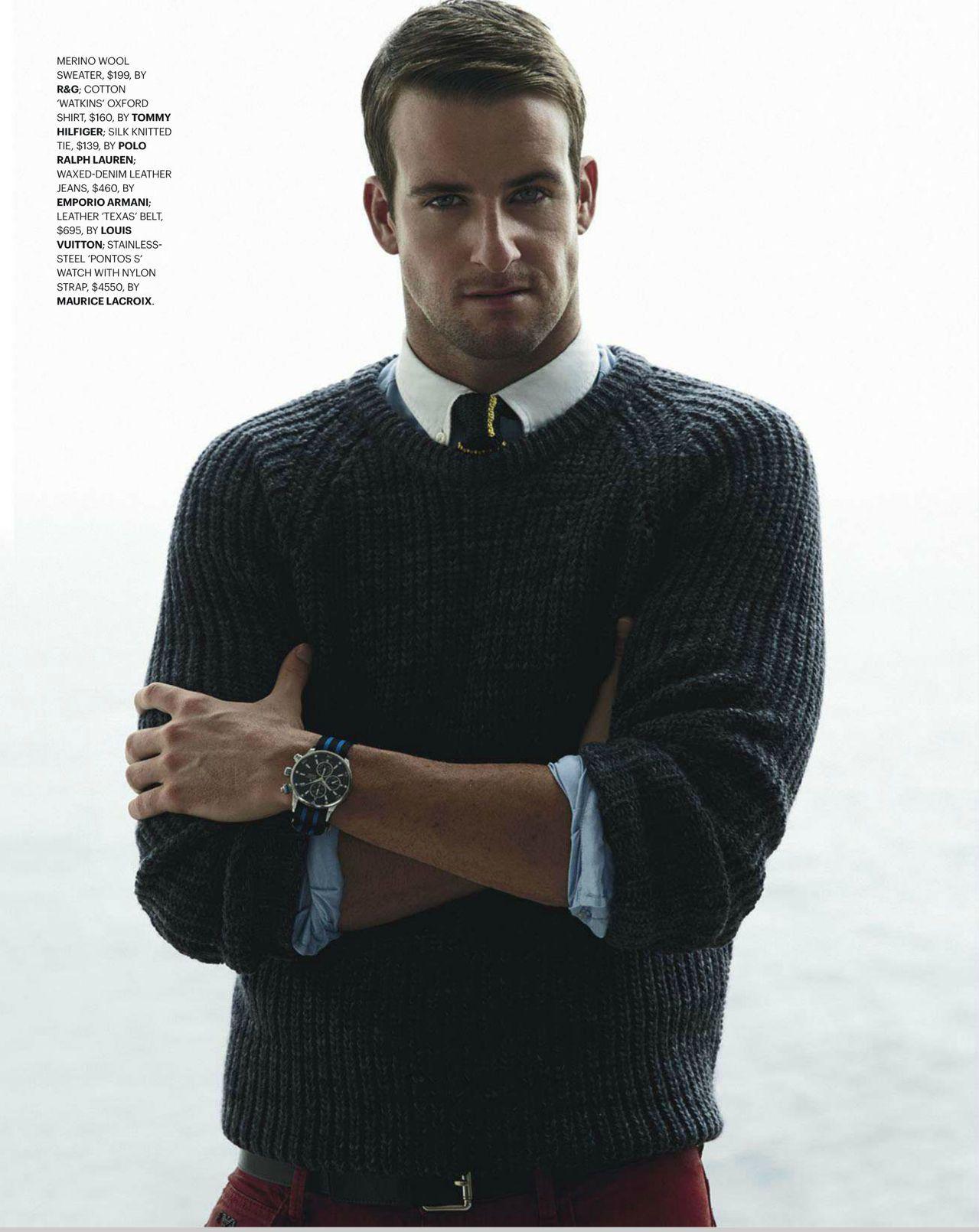 rodd gunn mens chunky knit sweater gq james magnussen