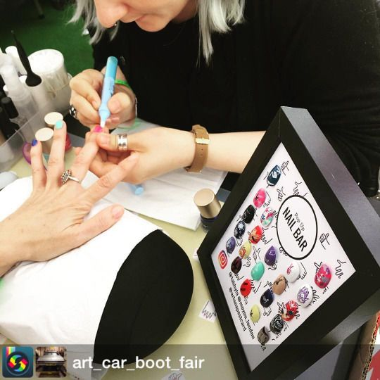 Pop Up Nail Bar For Art Car Boot Fair With MoYou London On A