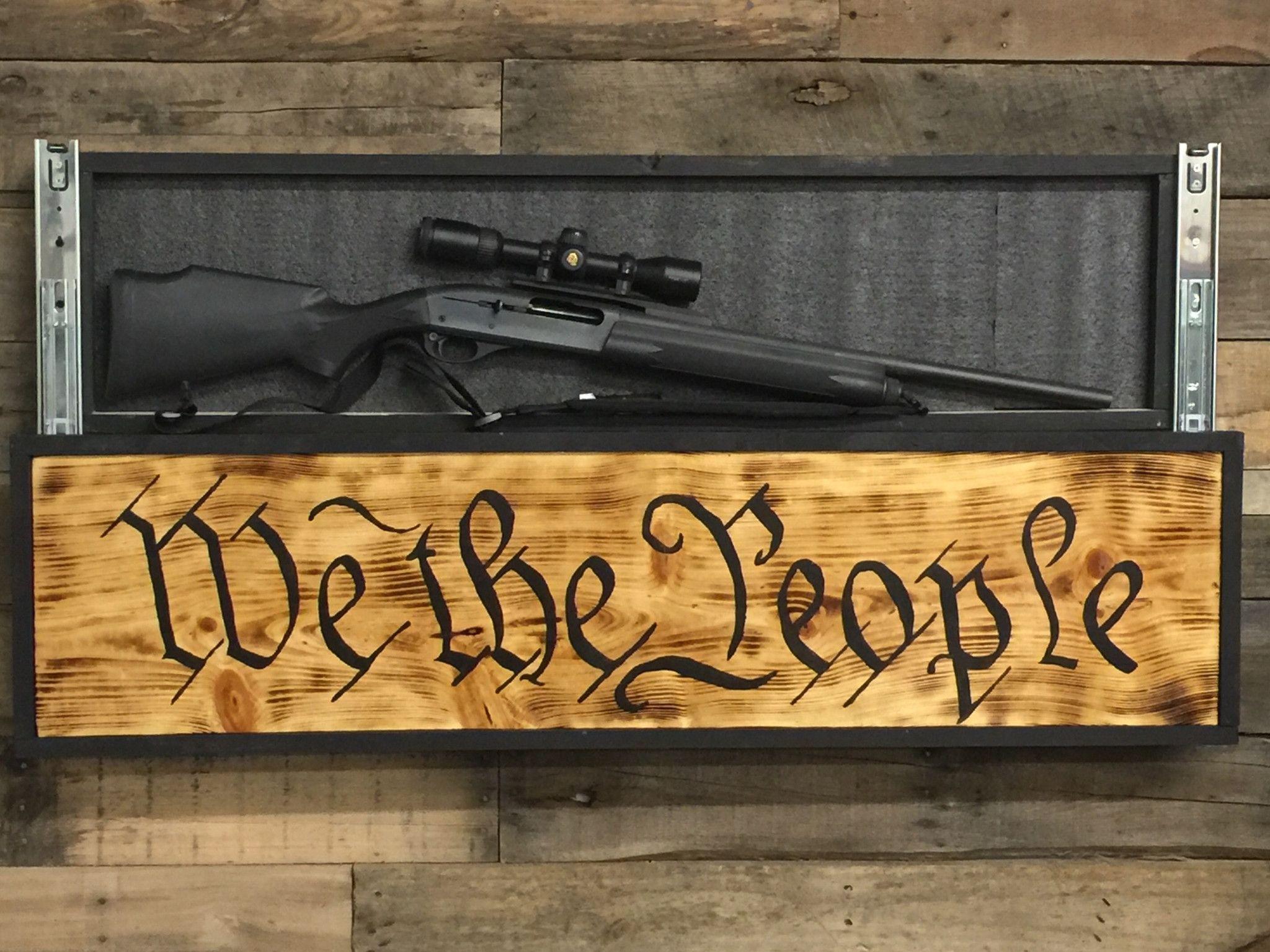 we the people sign with hidden compartment hidden gun