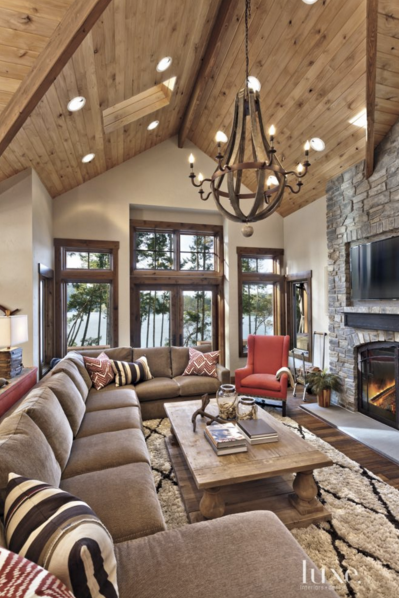Living Room Rustic Cabin Interior Paint Colors - Home ...