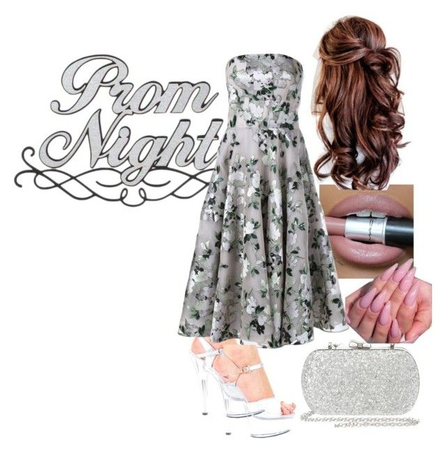 """""""Floral silver Prom"""" by puddycatshoes ❤ liked on Polyvore featuring Alexander McQueen and claire's"""