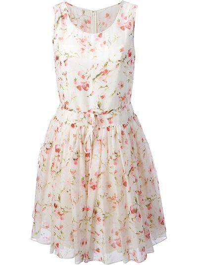 794bcc79d90 RED VALENTINO Floral Flared Dress