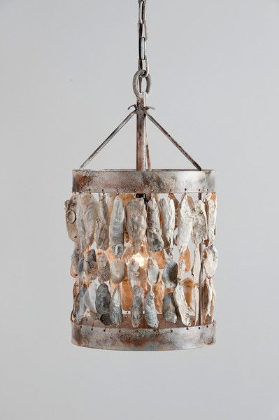 diy shell with farmhouse and these from pin coastal our oyster chandelier beauhomeinteriors at driftwood tag obsessed me chandeliers
