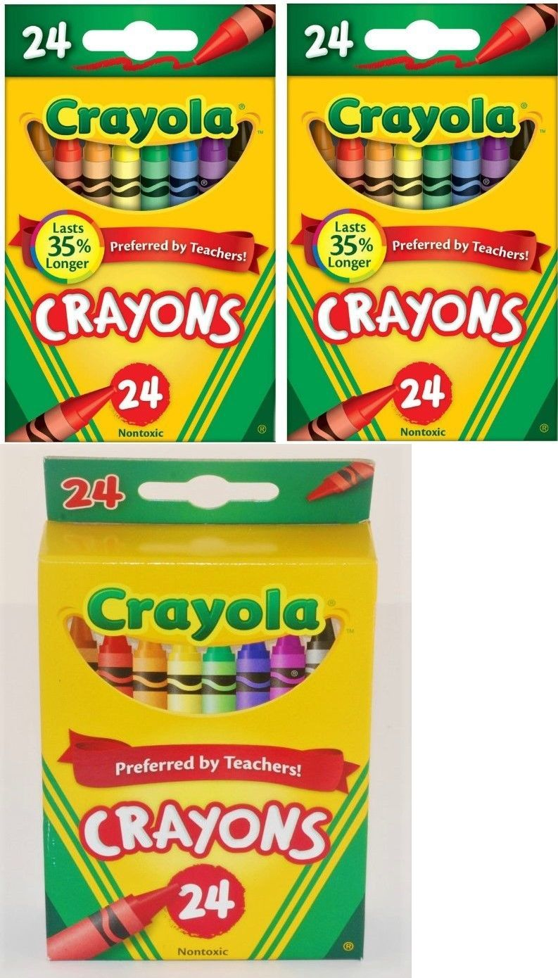 Crayons 116653: Lot Of 36 Boxes Of 24 Count Crayola Crayons Assorted ...