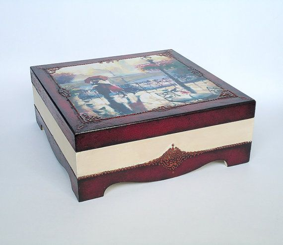 Decorated Wooden Boxes Hand Painted Hand Decorated Wooden Box Withjoliefleurdeco
