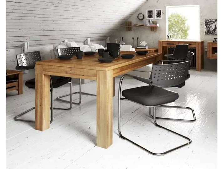 The Beds Cubic solid wood dining table 160×100 cm / with function / 2 steps  – Products