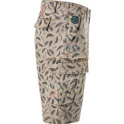 N.Z.A. Herren Hose Cargo-Shorts, Regular Fit, Baumwolle, hellbraun gemustert New Zealand Auckland |