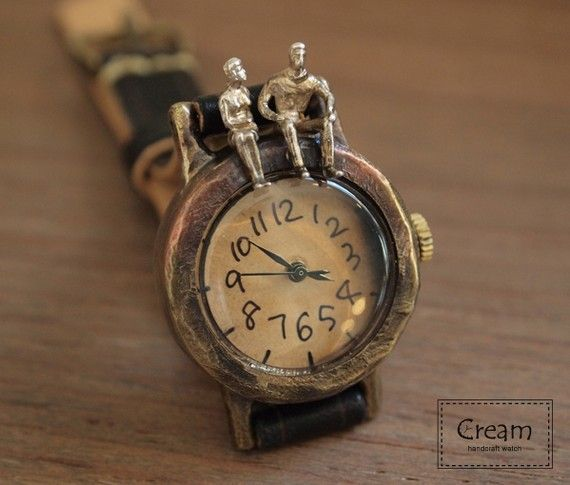 Vintage Watch. Leather Band ///////// Handcraft Watch ///////// Talk Talk #vintagewatches