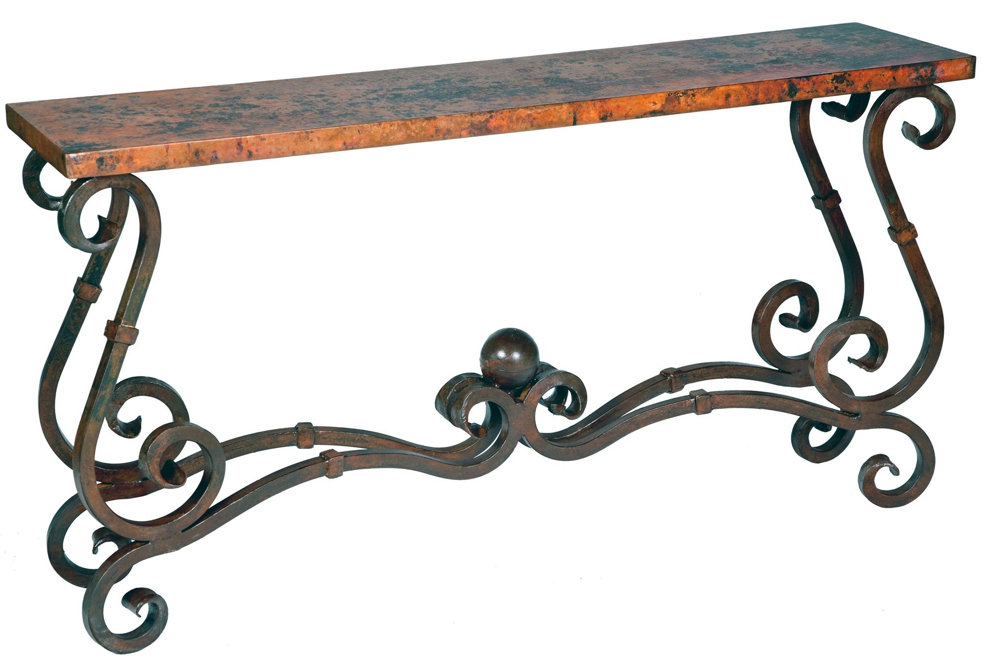 Stunning Copper Wrought Iron Furniture By Prima Wrought Iron Furniture Wrought Iron Console Table Iron Furniture Wrought iron accent table
