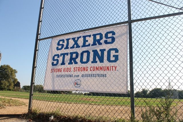 Sixers staff teamed up with Philly's Police Athletic League to provide a facelift for Kensington's Lighthouse Field. Sixers staff aimed to p...