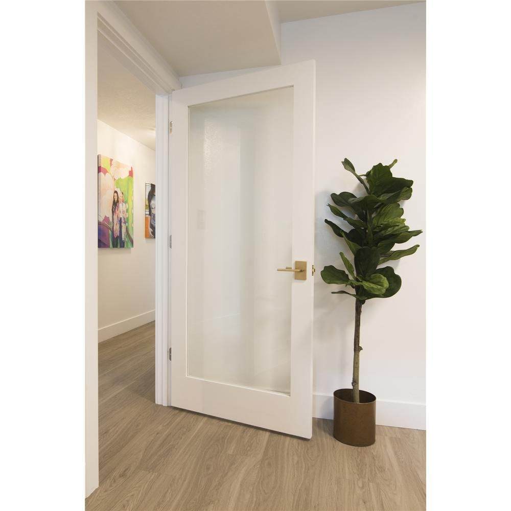 Krosswood Doors 36 In X 80 In 1 Lite Clear Solid Hybrid Core Mdf Primed Left Hand Single Prehung Interior Door Kw Sh402 3068 Lh The Home Depot In 2020 Doors Interior Prehung Interior Doors Tempered