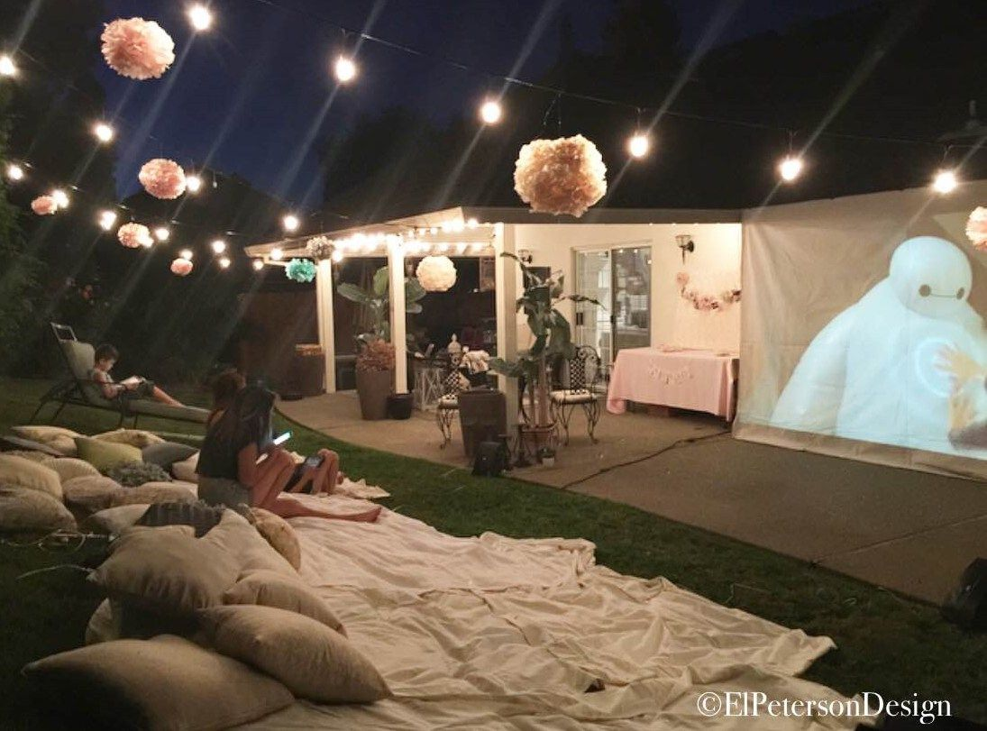 Outdoor Movie Night Backyard Summer