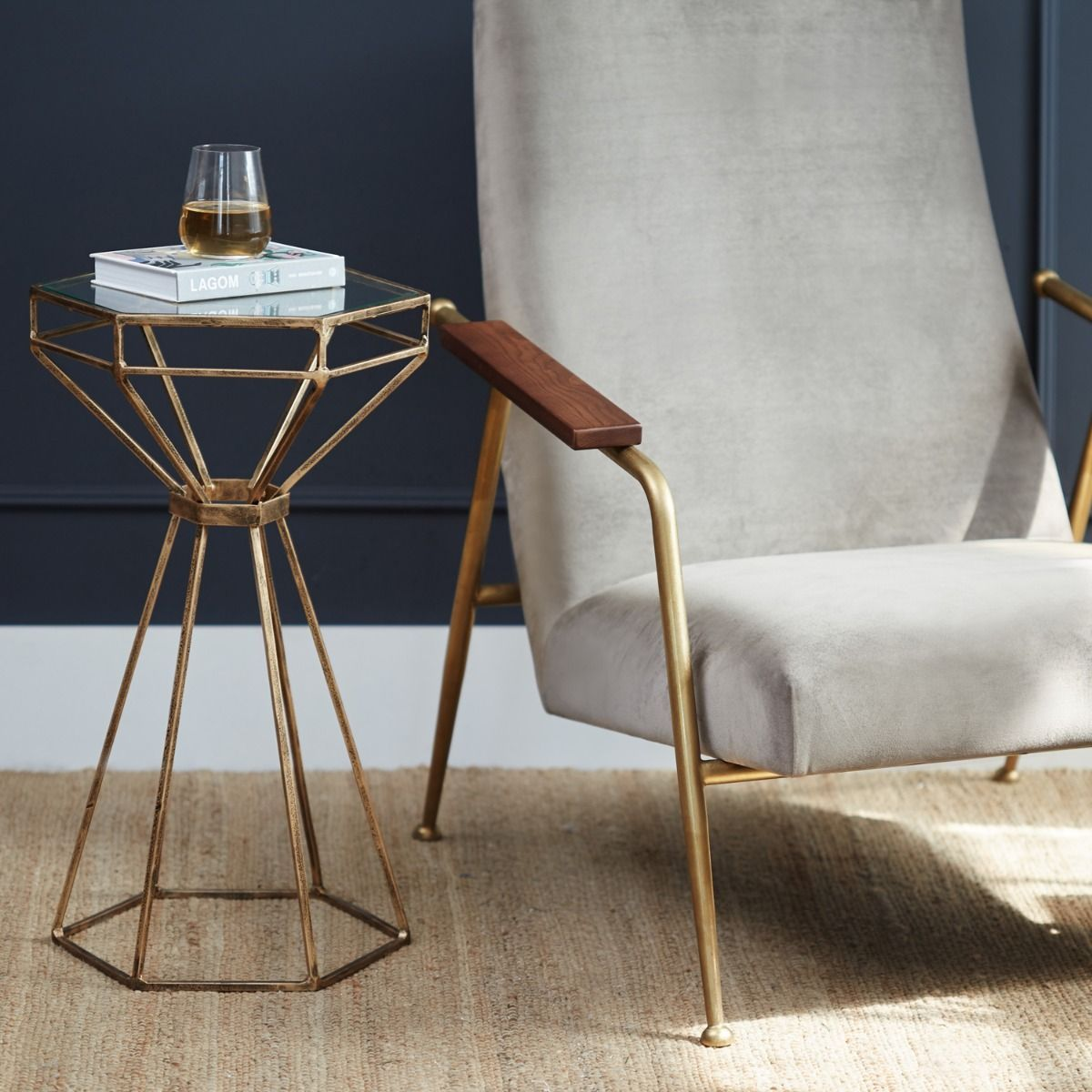 Hexagon Side Table | Meadows & Byrne | Side table, Hexagon ...