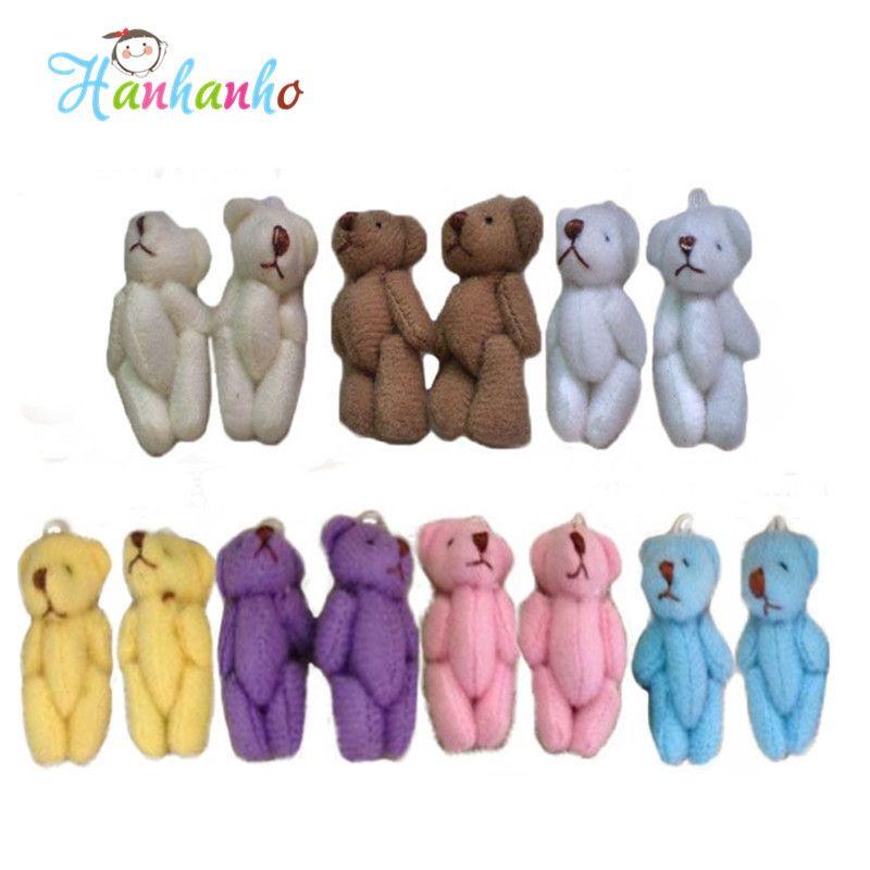 Teddy Bear White Mini Small Teddy Bear For Cartoon Bouquet Toy Wedding Gifts