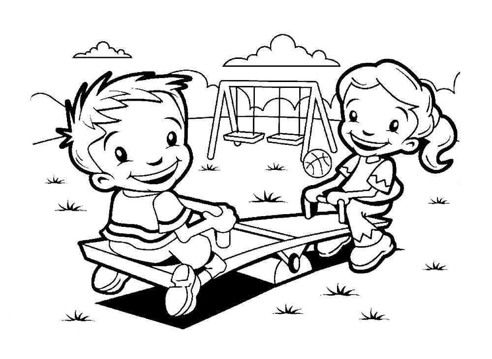 Aneka Gambar Mewarnai Gambar Mewarnai Tempat Bermain Kartun Gambar Kartun Anak