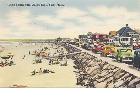 Vintage Long Sands York Beach Maine Aonce A Summer Drive To Escape Rumney
