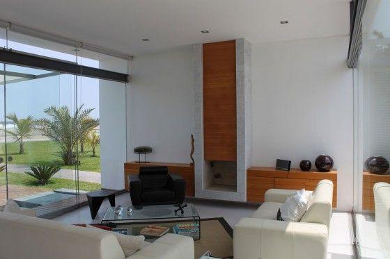 Diseño de casa de playa pequeña, sencilla estructura que se integra - schlafzimmer bad hinter glas loft wohnung