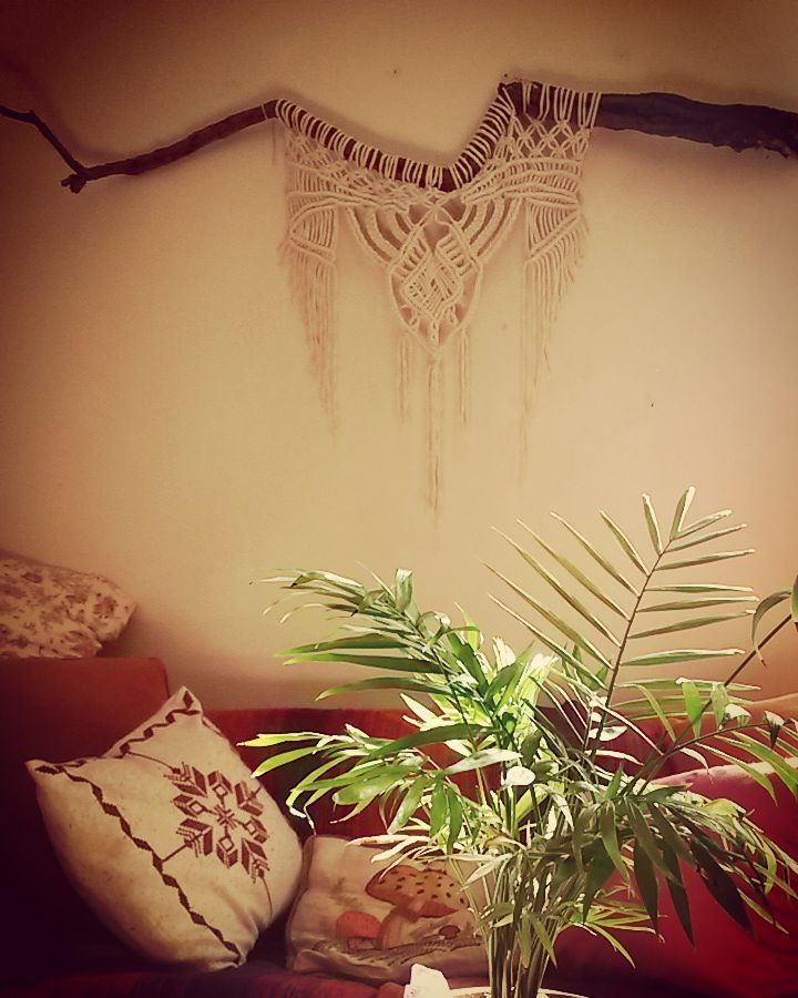 large macrame wall decor. rustic home made with love by yasmin from ...