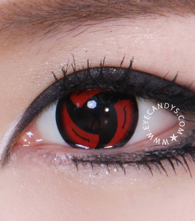 b44bf59a6807 The coolest freaky eyes with GEO crazy contact lenses… Awesome red and  black contacts. GEO Halloween and Cosplay ...