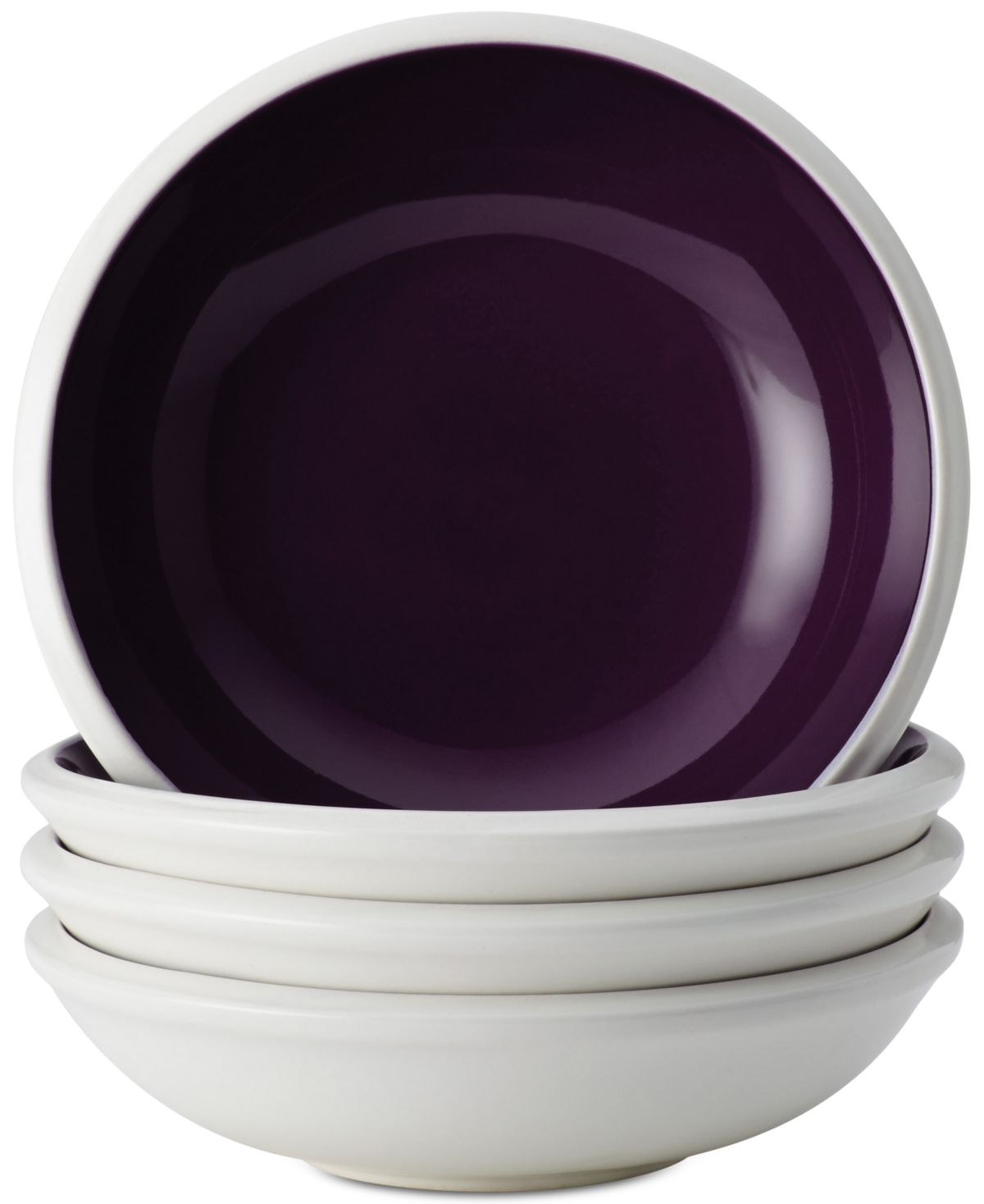Rachael Ray Rise Purple Set Of 4 Fruit Bowl Sets Purple With