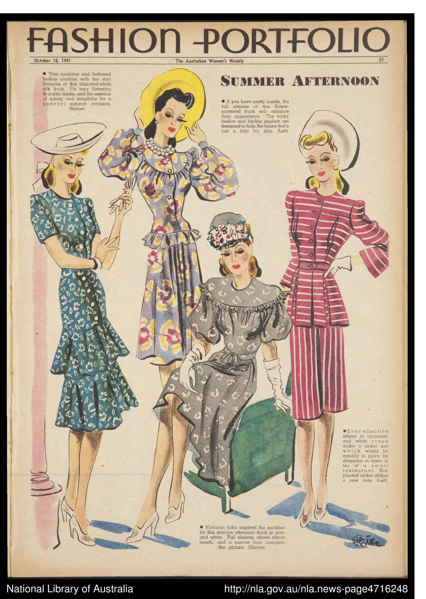 The Australian Women S Weekly 18 10 1941 Bauer Media Group Free Download Borrow And Streaming Fashion Illustration Vintage 1940s Fashion Forties Fashion