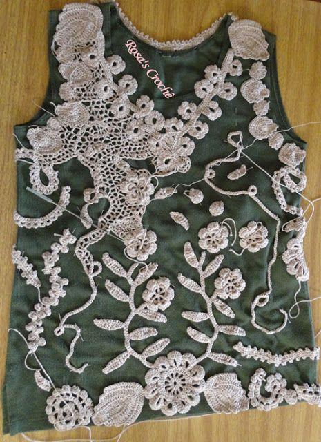 Crochê Tricô: Crochê Irlandês da Rosana Trugilio