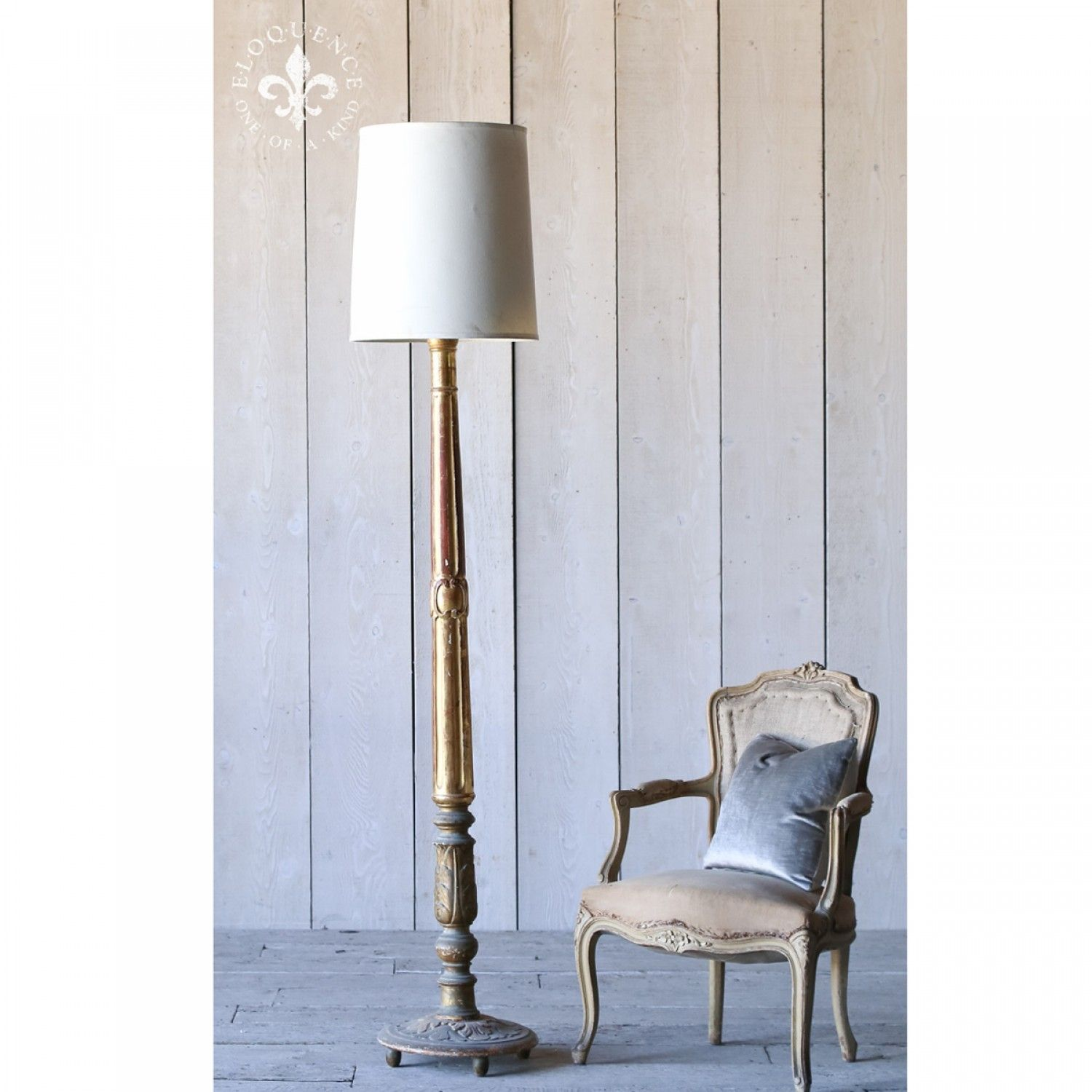 Gilt Floor Lamp