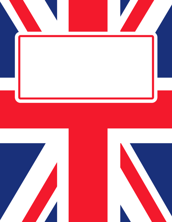 Free Printable Union Jack Binder Cover Template Download