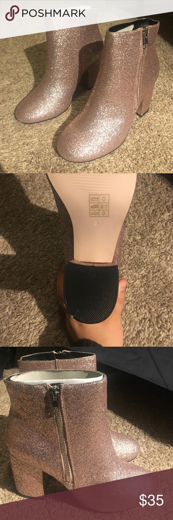 c11cf6518d9c ASOS REGAN Wide Fit Mid Heel Ankle Boots Brand new