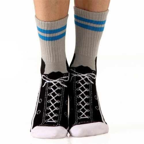 Hightop Sneaker Non-Skid Slipper Socks by Foot Traffic [Apparel]