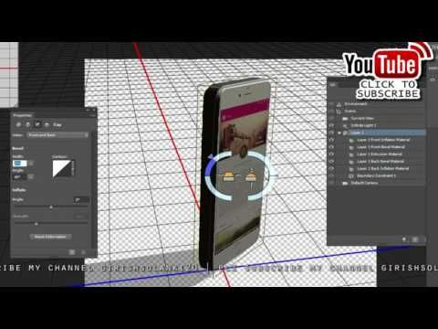 Photoshop 3d Tutorial How To Convert 2d Image To 3d Model Photoshop Cc Model Photoshop 3d Tutorial Photoshop