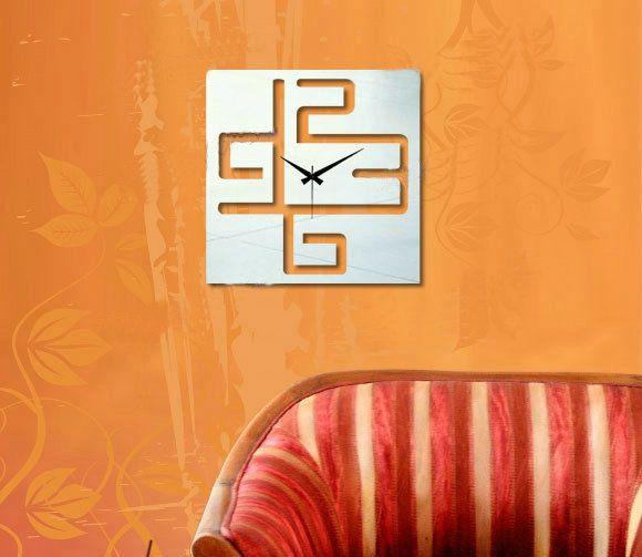 zrkadlové nástenné hodiny zrcadlové, wall mirror clock, spiegeltakt, zegar lustro