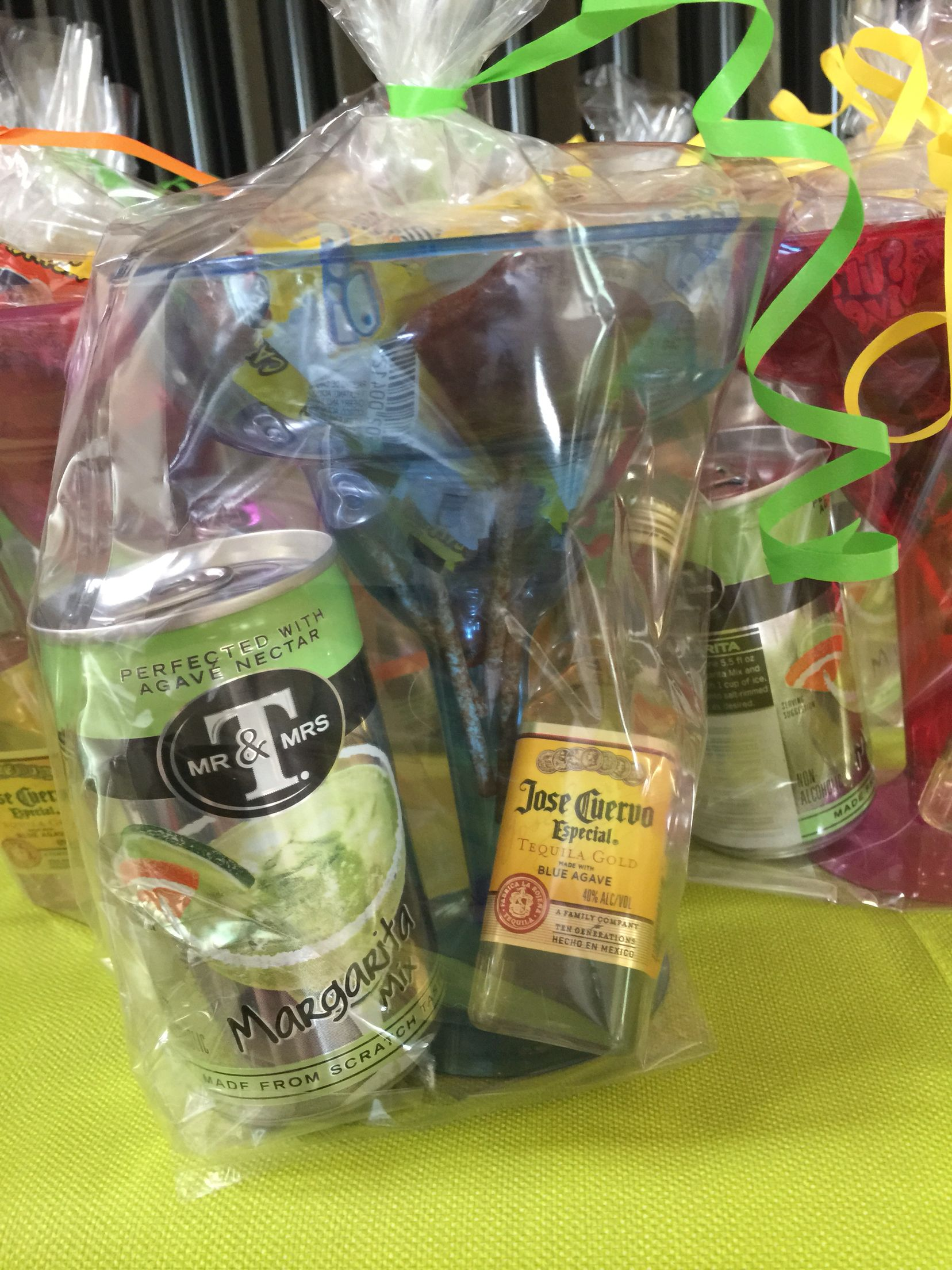 Fiesta Coed Baby Shower Favors Plastic Margarita Glass Filled With