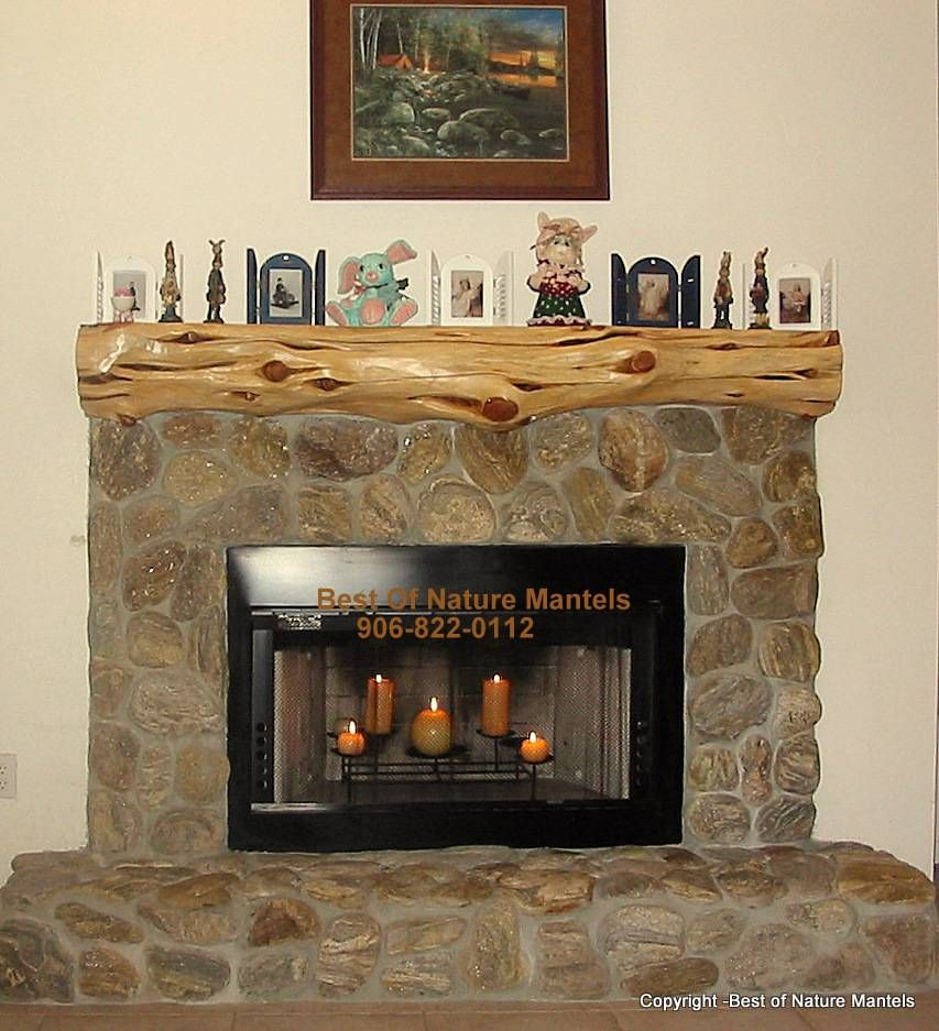Rustic Fireplace Mantel Log Mantels U