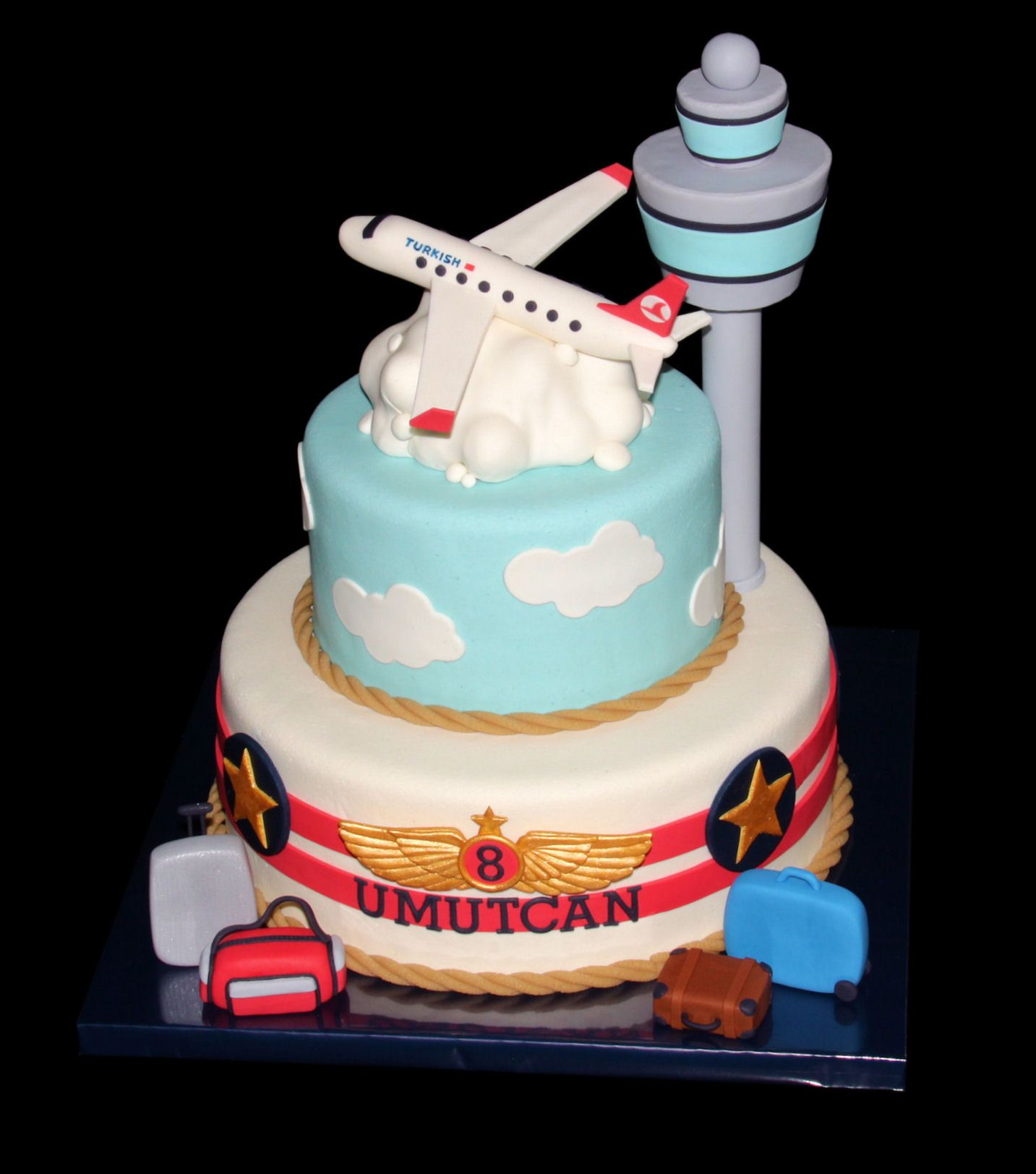 This is my favorite cake I LOVE it Not the luggage items around it