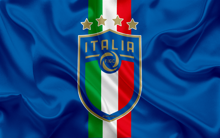 Download Wallpapers Italy National Football Team 4k New Logo Silk Texture Blue Silk Flag Italy New Emblem Football Besthqwallpapers Com Italy National Football Team Team Wallpaper Italy Soccer
