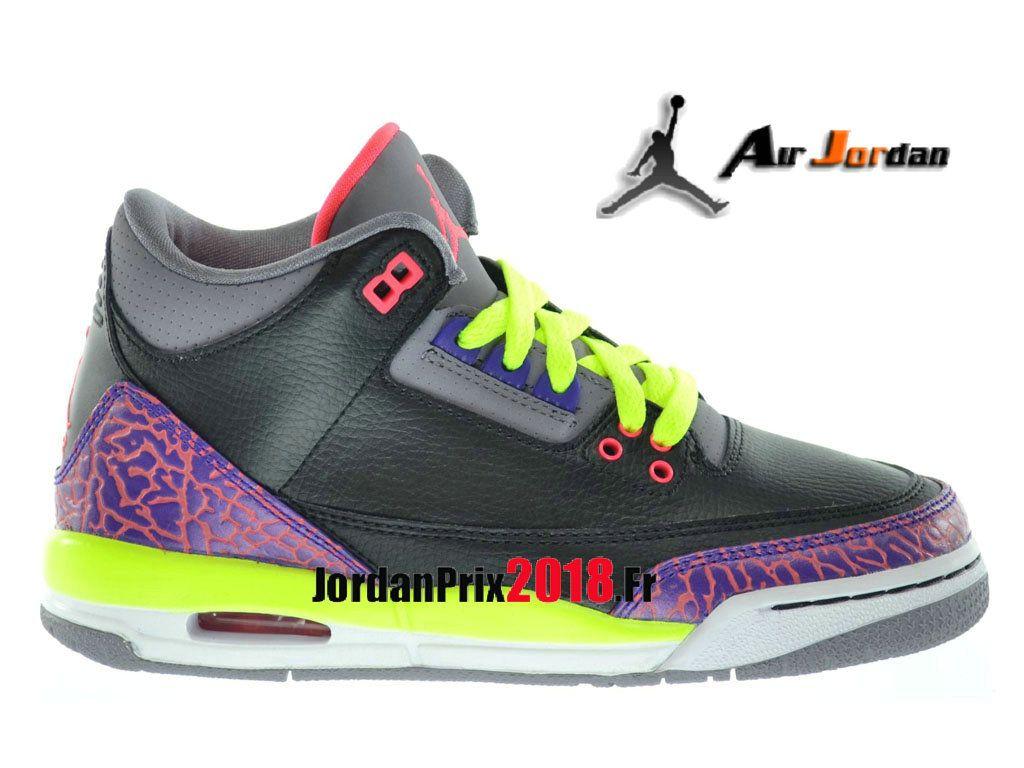 new concept e8809 7f08b Chaussure Basket Jordan Prix Pour Femme Air Jordan 3(III) Retro GS Ciment  noir 441140-039-Nike Jordan Basket Prix 2018 France   jordanprix2018.fr ...
