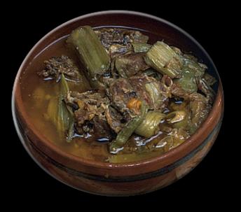 Agnello con Carciofi alla Campidanese E' un piatto della tradizione campidanese in cui si incontrano i prodotti tipici della provincia: l'agnello, il carciofo spinoso sardo, la vernaccia.