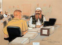 ACCUSED 9/11 PLOTTER LECTURES MILITARY TRIBUNAL
