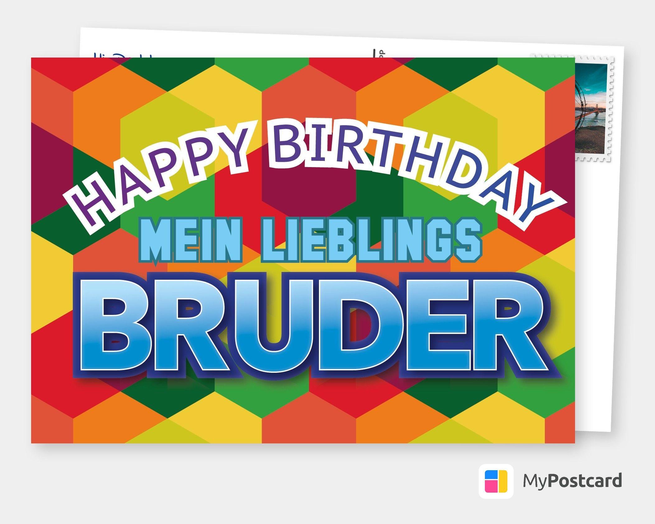 Lieblingsbruder Geburtstagskarten Spruche Echte