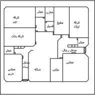 صور مخطط بيت Family House Plans House Layout Plans Model House Plan