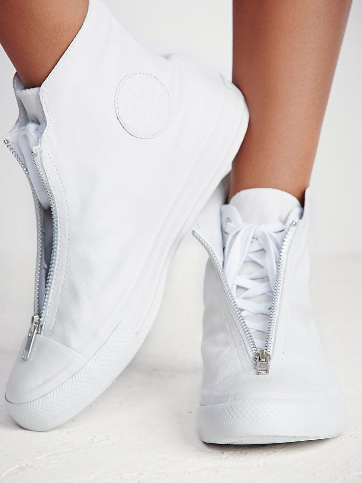Converse Leather Shroud High Top Chucks at Free People Clothing Boutique ee345d7a8