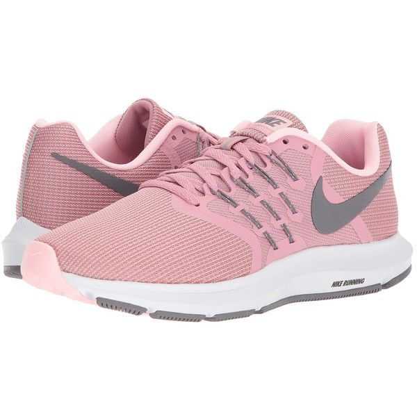 Nike Run Swift (Elemental Pink/Gunsmoke/Arctic Punch) Women's Running...  ($70) ❤ liked on Polyvore featuring shoes, athletic shoes, lace up shoes,  ...