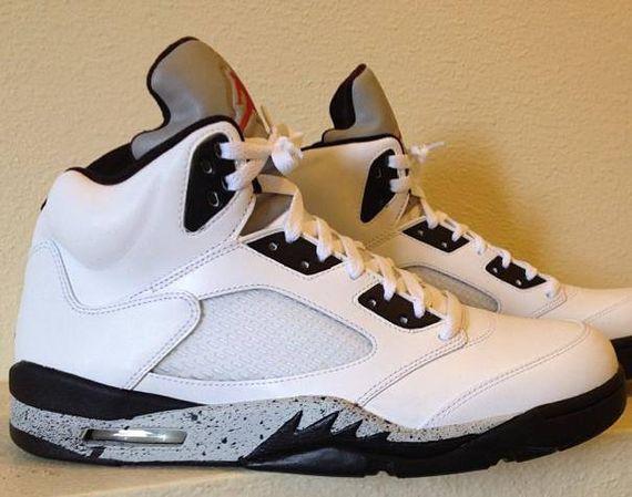 1f97274b86c ... Air Jordan V Retro White – Cement – Custom; Air Jordan 5 ...