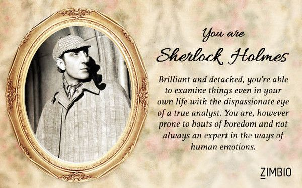 I am Sherlock Holmes!!! Which Victorian fictional character are you?