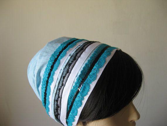 817bandana headband tichel hair cover handmade by oshratDesignz ...