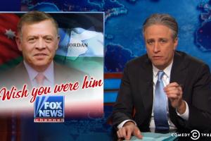 Jon Stewart gleefully mocks Fox News' desires for President Obama
