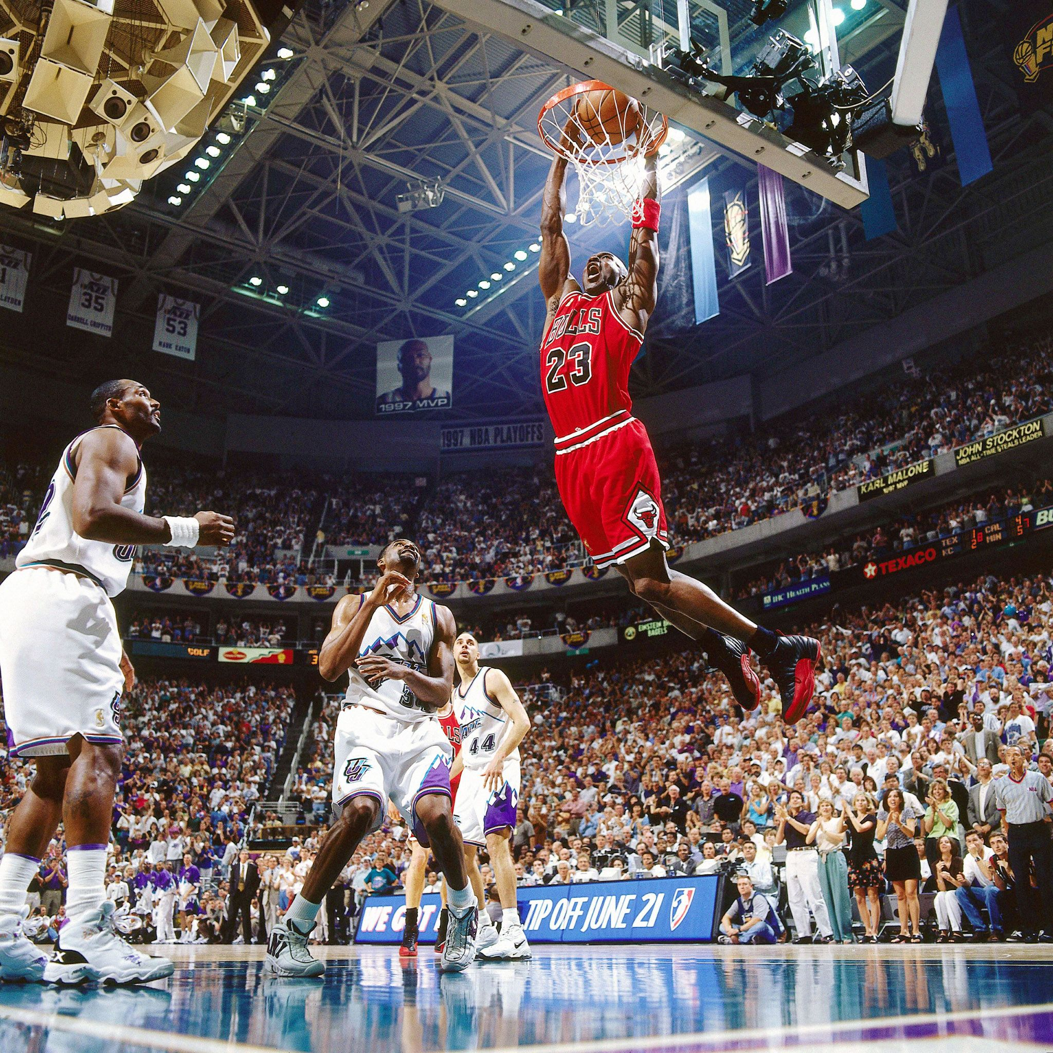 Michael Jordan Pictures MJ Dunking It Against The Utah Jazz
